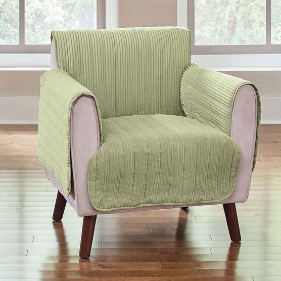 Reversible Plush Stripe Chair Protector,