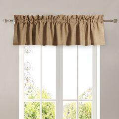 Burlap Natural Window Valance ,