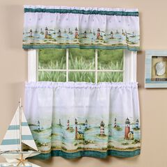 Hamptons Tier and Valance Window Curtain Set,