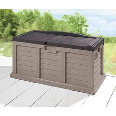 116-Gallon Rolling Deck Box, TAN