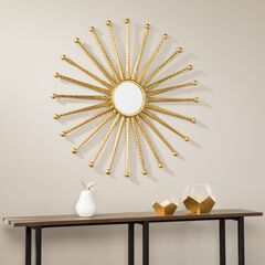 Mandi Gold Starburst Decorative Wall Mirror,