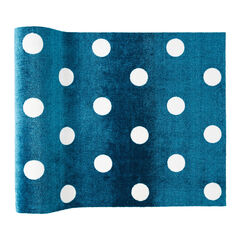 Small Polka Dance Rug , TEAL
