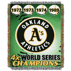 Athletic A's Commemorative Series Throw,