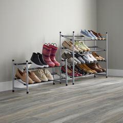 2-Tier Extendable Shoe Rack,