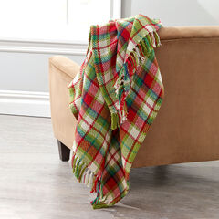 Plaid Tassel Throw,