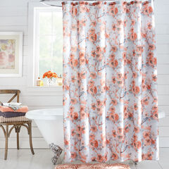 13-Pc. Waverly Floral Shower Curtain Set, CABBAGE ROSE