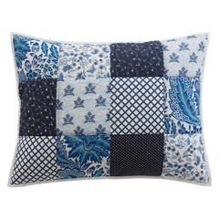 Suma Patchwork Sham, BLUE WHITE