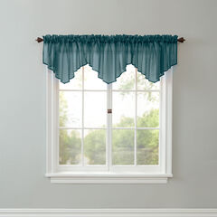 BH Studio Sheer Voile Ascot Valance, FOREST