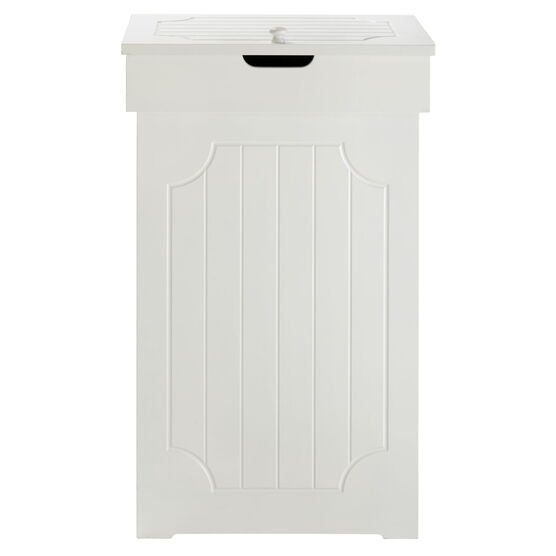 Cottage Kitchen Trash Can, WHITE