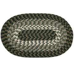 """Alpine Braid Collection Reversible Indoor Area Rug, 48"""""""" x 72"""""""" Oval ,"""