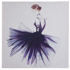 Lady Violet Canvas Wall Art,