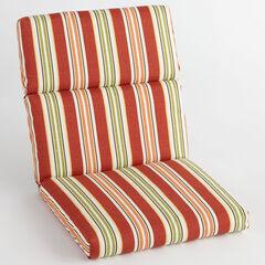 Universal Chair Cushion, CHERRY BAJA STRIPE