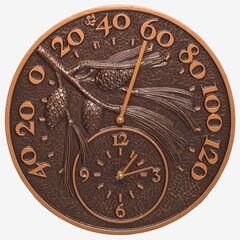 Pinecone Thermometer Clock,
