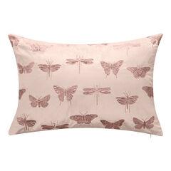Embroidered Butterflies and Moths Lumbar Decorative Pillow,