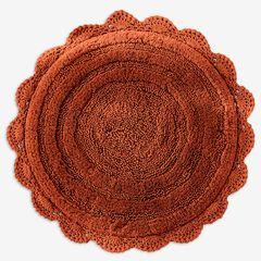 "24"" Round Crochet Bath Mat, SPICE"