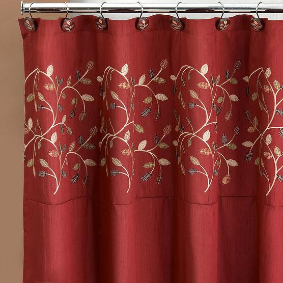 Aubury  Shower Curtain, BURGUNDY