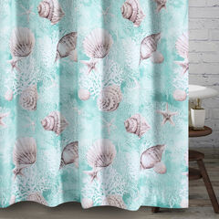 Barefoot Bungalow Ocean Turquoise Bath Shower Curtain,