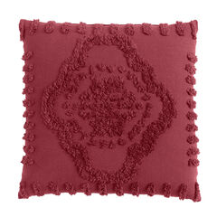 Madison Chenille Sq. Pillow, GARNET