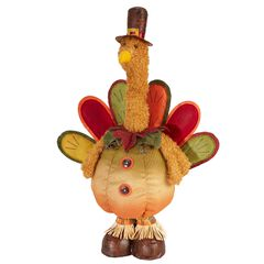 Boy Turkey with Extendable Legs ,