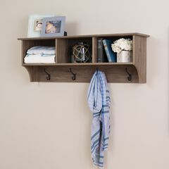 "48"" Wide Hanging Entryway Shelf, Drifted Gray,"