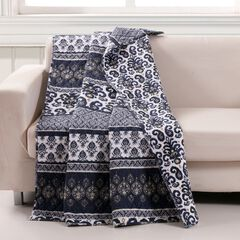 Barefoot Bungalow Native Quilted Throw Blanket, INDIGO