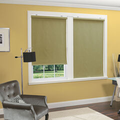 Cordless Linen Look Thermal Fabric Roller Shade, GREEN