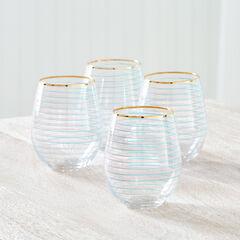 Tessa Stemless Wine Glasses, Set of 4,