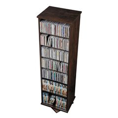 Two Sided Spin Multimedia Storage Tower,