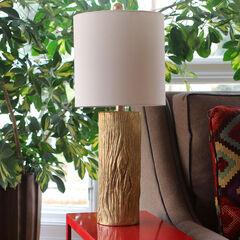 Olea Gold Leaf Table Lamp,