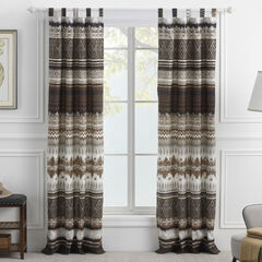 Southwest Latte Curtain Panel Pair,