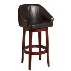 Nina Extra Wide Swivel Bar Stool,