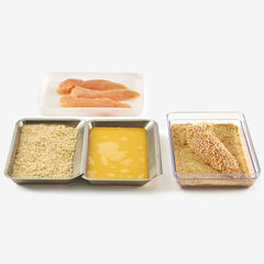 Food Prep Trays, Set of 4, STAINLESS