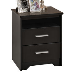 Coal Harbor  Tall 2-drawer Night Stand with Open Shelf,