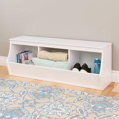 Monterey Stackable 3-Bin Storage Cubbie, White,