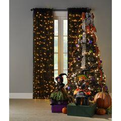 6' Pre-Lit Halloween Pop-Up Tree, BLACK