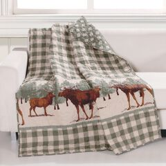 Greenland Home Fashions Moose Creek Quilted Throw Blanket,