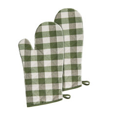 Buffalo Check Oven Mitt 7-in x 13-in - Set of Two,