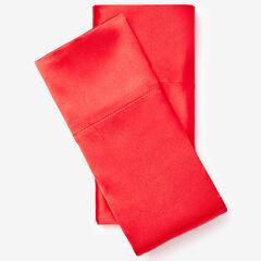Set of 2 Satin Pillowcases, RED
