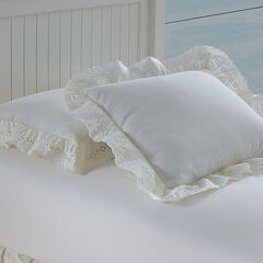Embroidered Eyelet Sham,