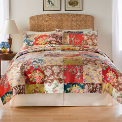3-Pc. Printed Patchwork Velvet Pinsonic Quilt Set,