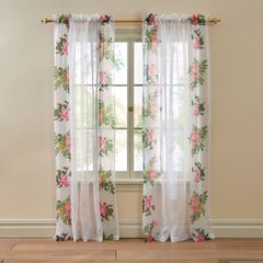 BH Studio Flora Printed Voile Rod-Pocket Panel,