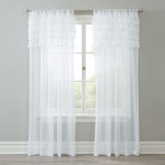 BH Studio Sheer Voile Ruffle Panel,