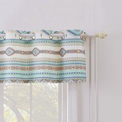 Phoenix Turquoise Window Valance,