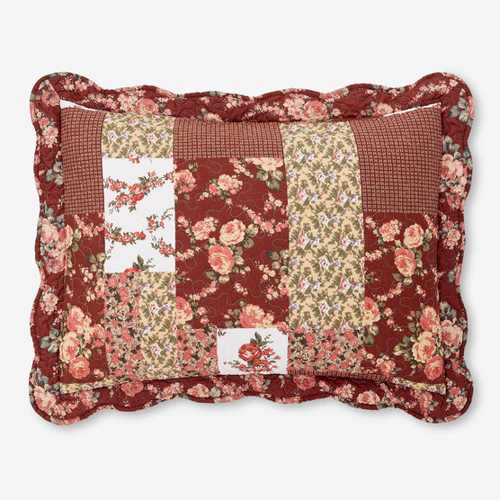 allison printed patchwork standard sham,