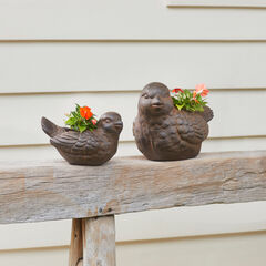 Set of 2 Bird Planters,