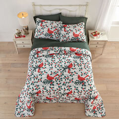3-Pc. Christmas Bedspread Set, CARDINAL