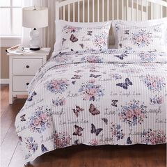 Barefoot Bungalow Garden Joy Quilt and Pillow Sham Set,