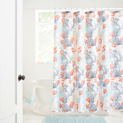 Caribbean Joe 14-Pc. Shower Curtain Sets, WHITE UNDER THE SEA