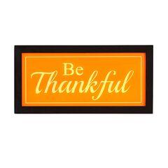 Be Thankful Light Box,
