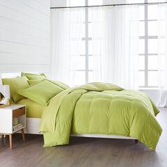 BH Studio Reversible Baffle Box Comforter, DARK CITRON KIWI